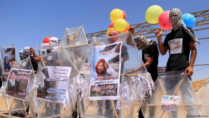 Gewaltsame Proteste in Bureij, Gazastreifenam 14. Juni 2018; Foto: Imago/ZUMA Press