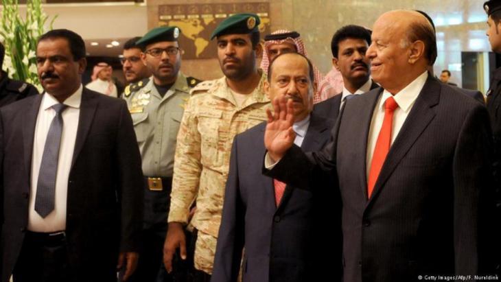 Jemens Präsident Abed Rabbo Mansur Hadi während eines Besuchs in Riad; Foto: AFP/Getty Images