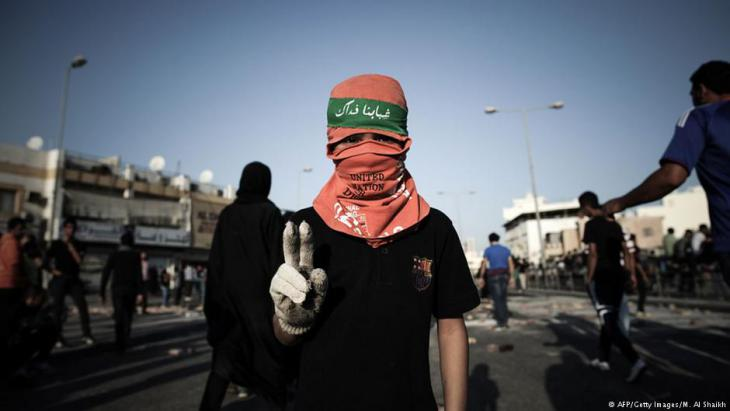Arabischer Frühling in Bahrain: Demonstrationen am 16.02.2013 in Daih, westlich von Manama; Foto: AFP/Getty Images
