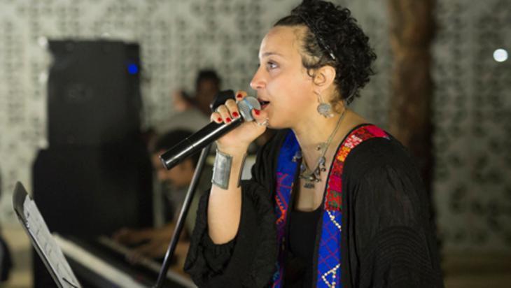Die ägyptische Sängerin Maryam Saleh beim Launch von Jeem in Kairo | Foto: Roger Anis