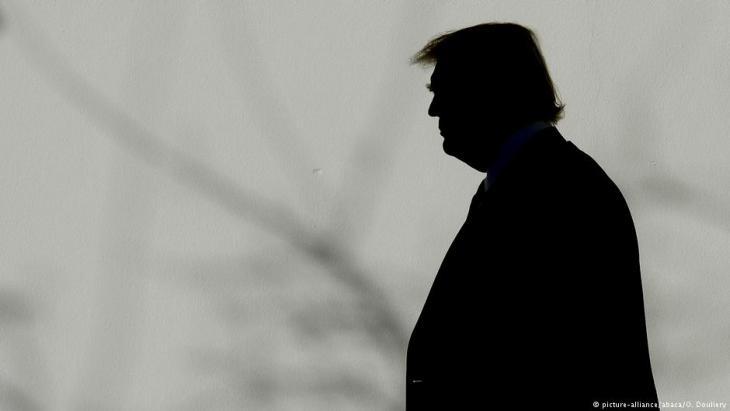 Silhouette Donald Trumps; Foto: picture-alliance/abaca