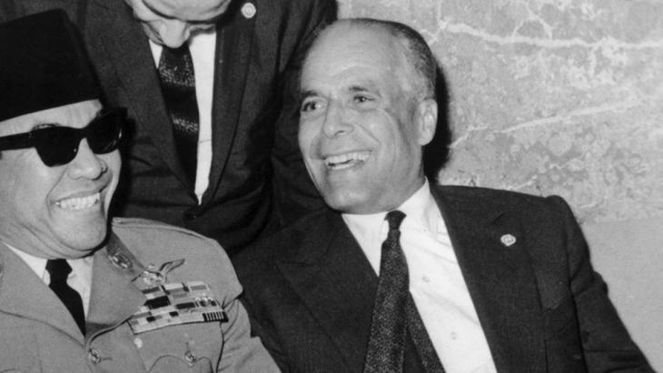 Tunesiens Präsident Habib Bourguiba; Foto: dpa