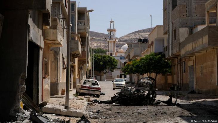 Die von General Haftar eroberte liybsche Küstenstadt Derna; Foto: Reuters