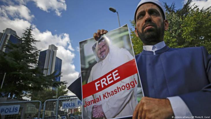 Demonstranten in der Türkei fordern seit Tagen die Freilassung von Chaschukdschi; Foto: picture-alliance/AP