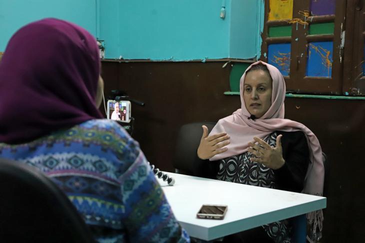 Die in Kairo lebende Jemenitin Fatima el-Mutahar | © Goethe-Institut/Sandra Wolf