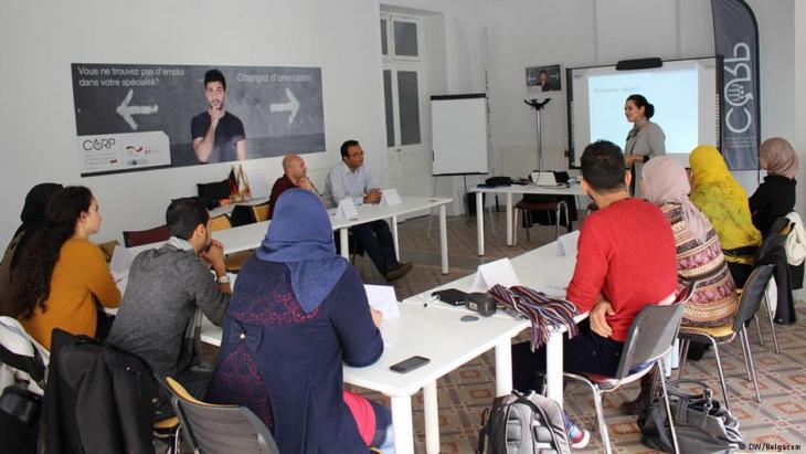 Jugendausbildungsprogramm in Tunesien; Foto: DW