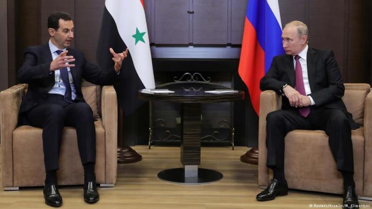 Baschar al-Assad bei einem Treffen mit Wladimir Putin; Foto: Reuters