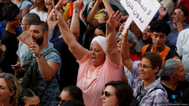 Demo für Gleichstellung im Erbschaftsrecht in Tunis, Foto: Reuters/Z. Souissi