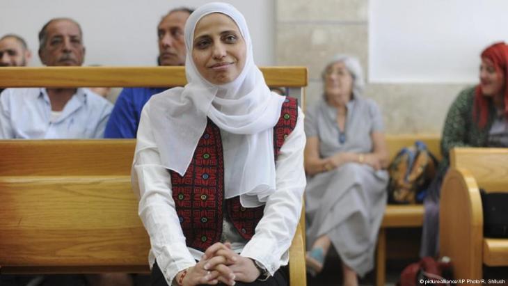 Dareen Tatour saß wegen ihres Gedichts und ihrer Posts fünf Monate im Gefängnis; Foto: picture-alliance/AP