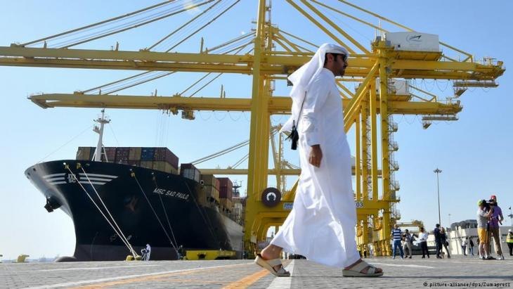 Qatars neuer Hafen Hamad Port; Foto: picture-alliance/dpa