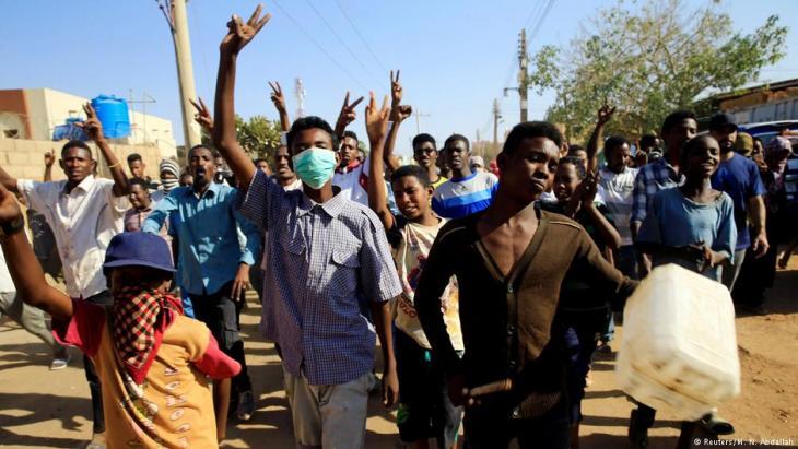 Proteste in Khartum; Foto: Reuters