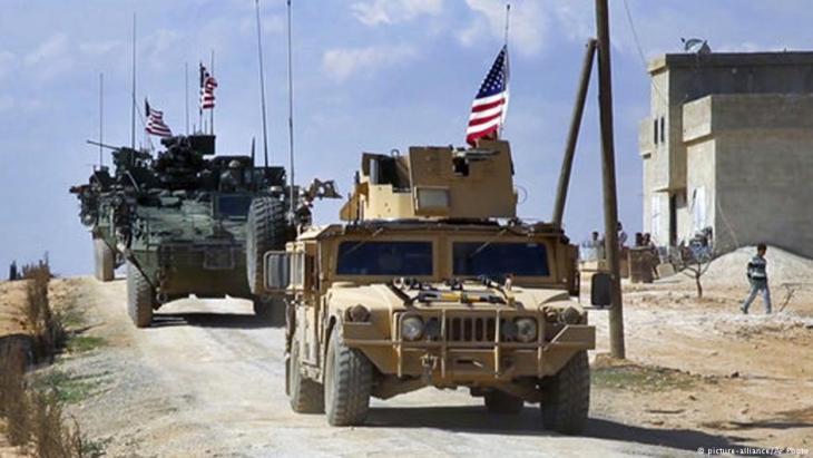 US-Truppen in der nordsyrischen Stadt Manbij; Foto: picture-alliance/AP