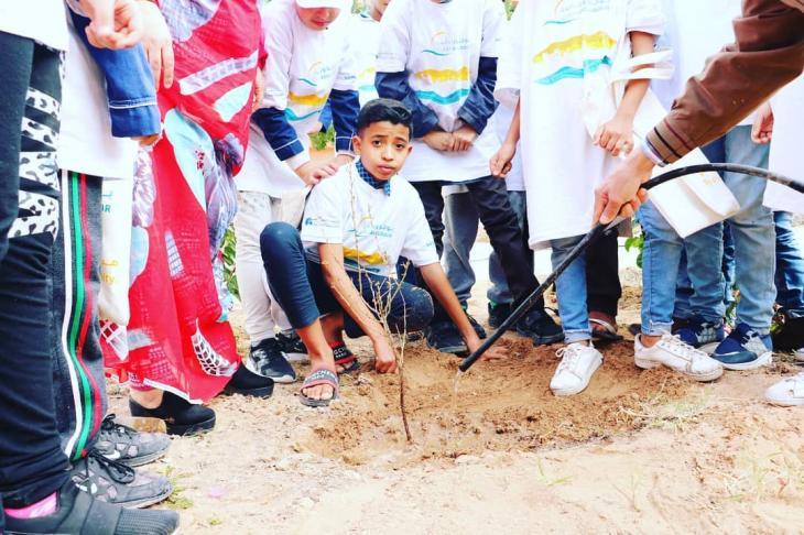 """Baumpflanzungen in Marokko durch die Initiative der """"High Atlas Foundation""""; Foto: """"High Atlas Foundation"""""""
