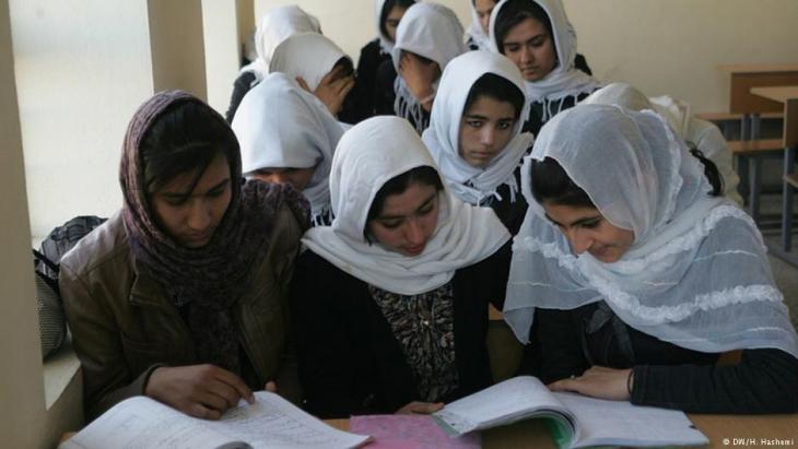 Mädchenschule im afghanischen Herat; Foto: DW/H. Hashemi
