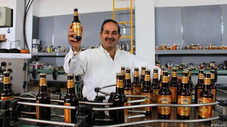 Nadim Khoury, Gründer und Inhaber von Taybeh, der ersten Brauerei in den Palästinensergebieten; Foto: DW/Jamal Saad