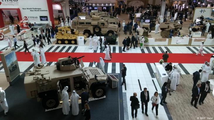 Waffenmesse IDEX in Abu Dhabi (VAE). Foto: DW