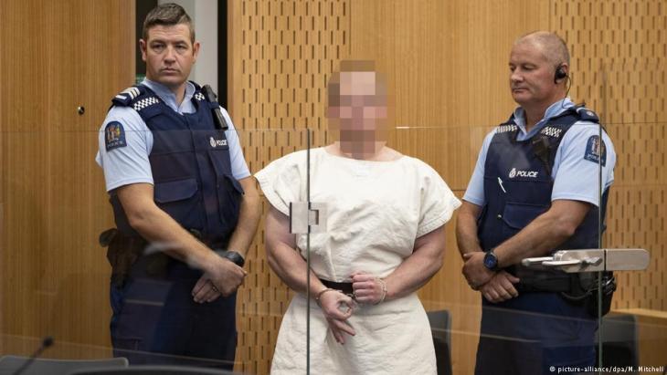 Inhaftierter Attentäter Brenton Tarrant; Foto: picture-alliance/dpa/M. Mitchell