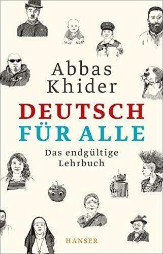 """Buchcover Abbas Khider: """"Deutsch für alle. Das endgültige Lehrbuch"""" im Hanser-Verlag"""