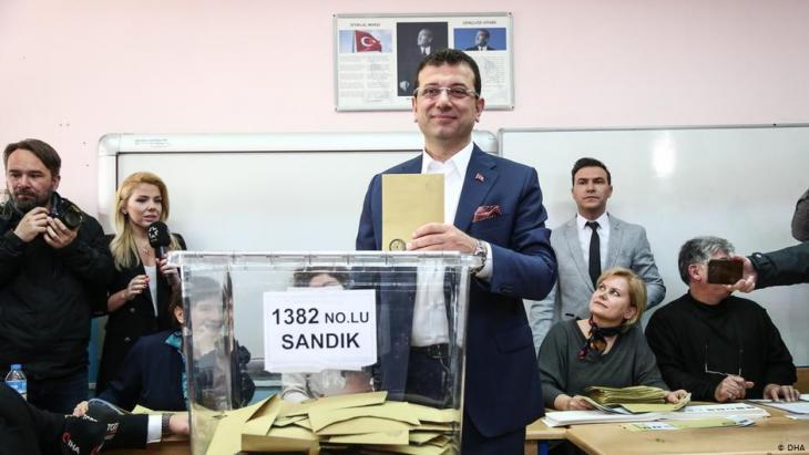 Ekrem İmamoğlu von der oppositionellen CHP; Foto: DHA
