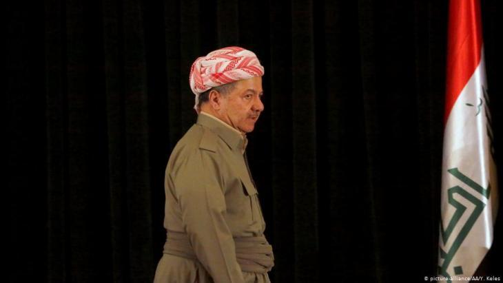 Der ehemalige Präsident der Autonomieregion Kurdistan im Nordirak Massud Barsani; Foto: picture-alliance/AA