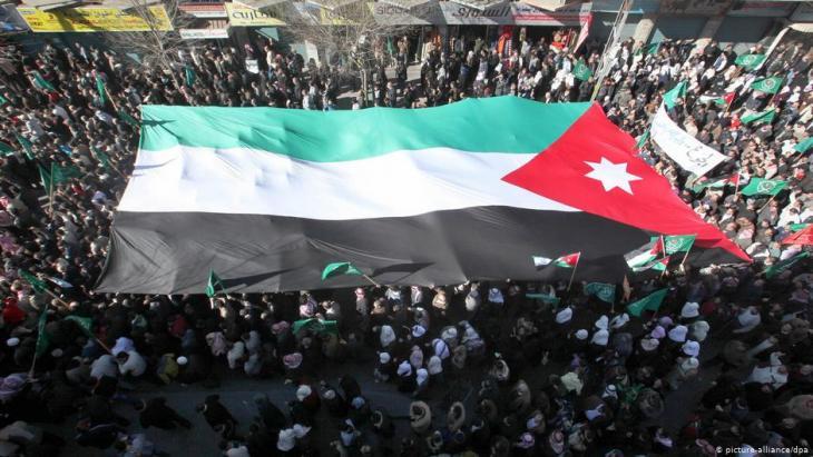 Arabischer Frühling in Jordanien: Proteste in der Hauptstadt Amman am 21. Januar 2011; Foto: picture-alliance/dpa