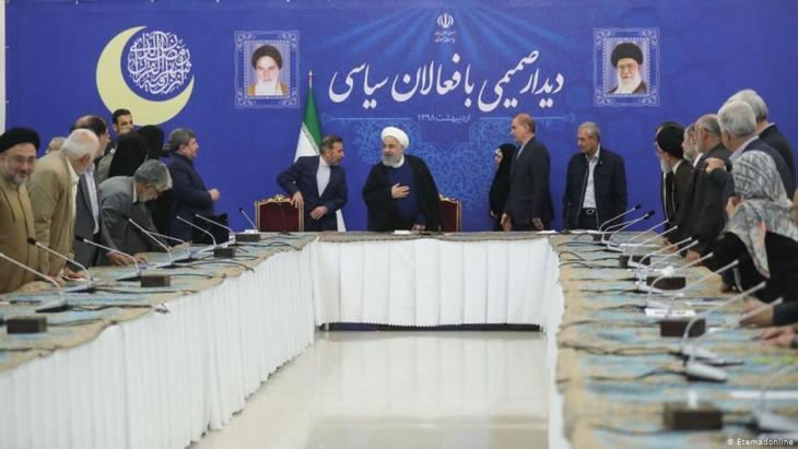Irans Präsident Rohani trifft Vertreter der politischen Elite des Landes in Teheran; Foto: Etemadonline