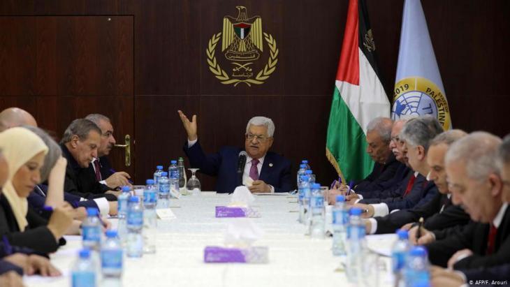 Vereidigung der neuen palästinensischen Regierung in Ramallah am 13.04.2019; Foto: F. Arouri/AFP
