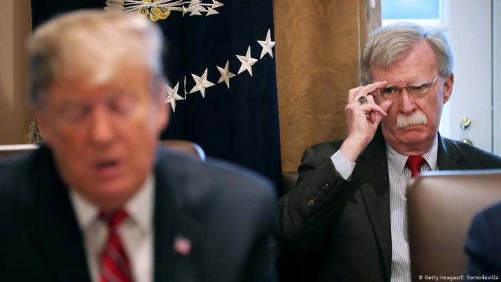 US-Präsident Trump mit Sicherheitsberater John Bolton in Washington; Foto: Getty Images