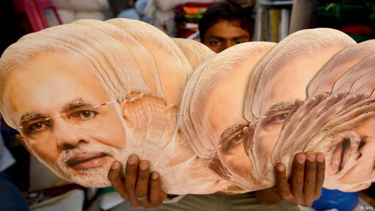 Wahlkampf von Anhängern der BJP im indischen Kalkutta; Foto: IANS