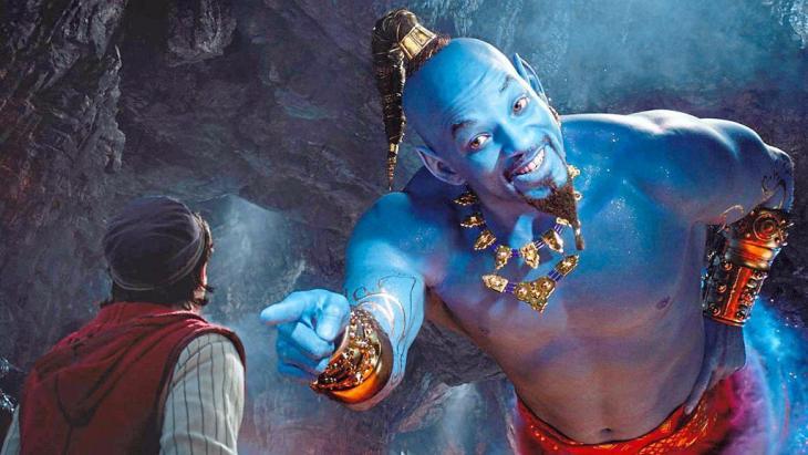 Ausschnitt Aladdin-Neuverfilmung - ein Remake des Disney-Klassikers mit dem Schauspieler Will Smith als Flaschengeist
