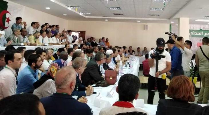 Teilnehmer an der Nationalen Konferenz der Zivilgesellschaft am 15. Juni 2019 in Algiers; Quelle: Nourredine Bessadi