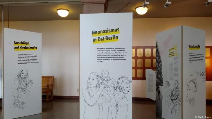 """Ausstellung """"Immer wieder? Extreme Rechte und Gegenwehr in Berlin seit 1945""""; Foto: DW/S.Braun"""