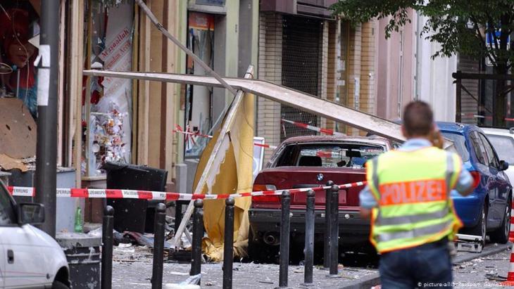 NSU-Anschlag am 9. Juni 2004 in der Kölner Keupstraße; Foto: dpa/picture-alliance
