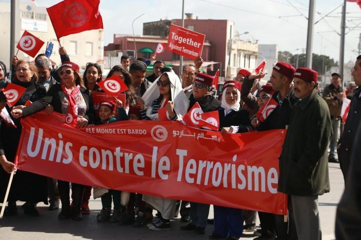 Proteste gegen den Terror nach den Anschlägen auf das Nationalmuseum von Bardo in der tunesischen Hauptstadt Tunis am 18. März 2015; Foto: © Aya Chebbi