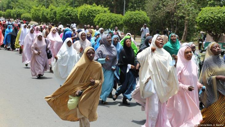 Solidaritätsdemo für Schiitenführer Zakzaky in Abuja im Jahr 2018; Foto: picture-alliance
