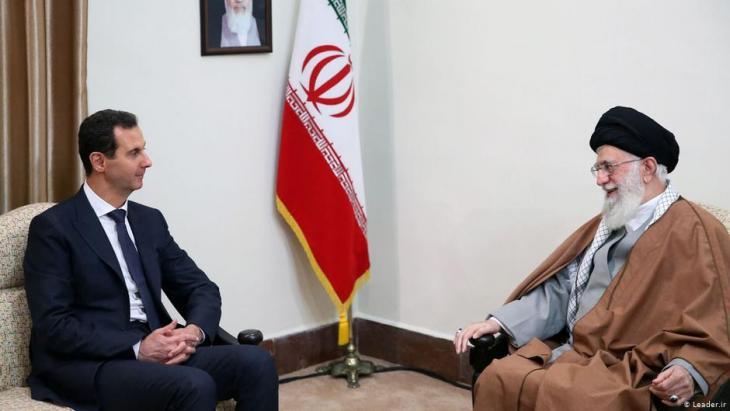 Syriens Machthaber Bashar Assad besucht Ayatollah Ali Khamenei, den Führer der Islamischen Republik Iran, am 25.02.2019; Foto: Leader.ir