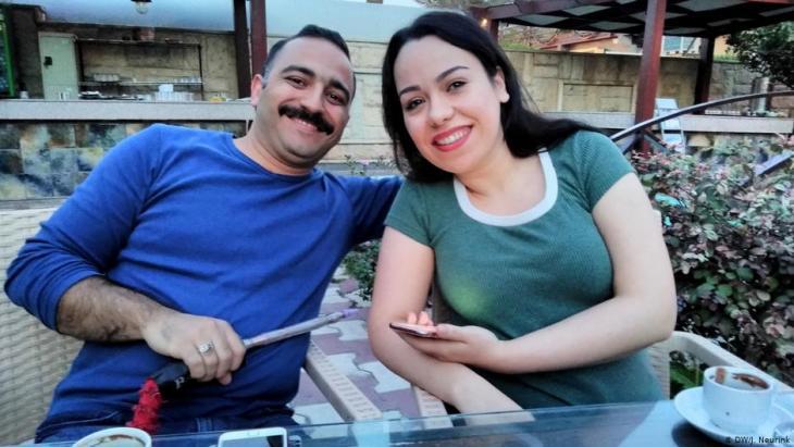Mustafa al-Ani und Merry al-Khafaji in Bagdad; Foto: DW/Neurink