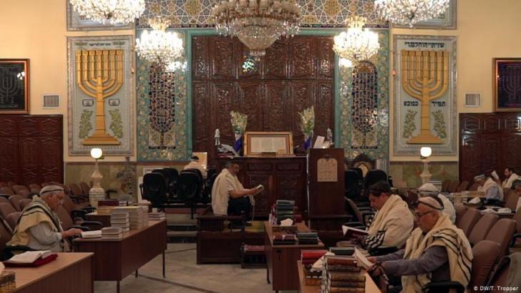 Juden in der Sukkot Shalom Synagoge im Teheraner Viertel Yusuf-Abad; Foto: DW