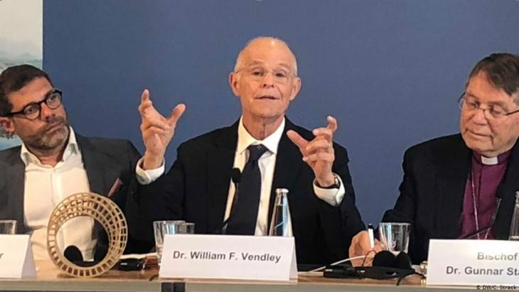 "William F. Vendley, scheidender ""Religions for Peace""-Generalsekretär; Foto: DW/C.Strack"
