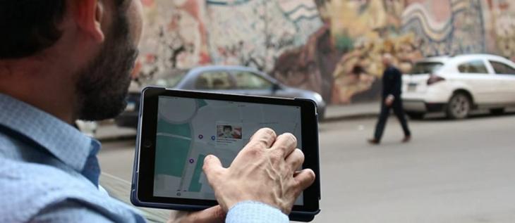 Digitale Archivierung: Mithilfe der App können Nutzer die Orte der Proteste während der  ägyptischen Revolution von 2011 aufsuchen und deren Geschichte kennenlernen.