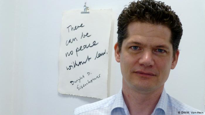 Völkerstrafrechtler Lars Berster von der Universität Köln, Foto: DW/M.-von-Heim