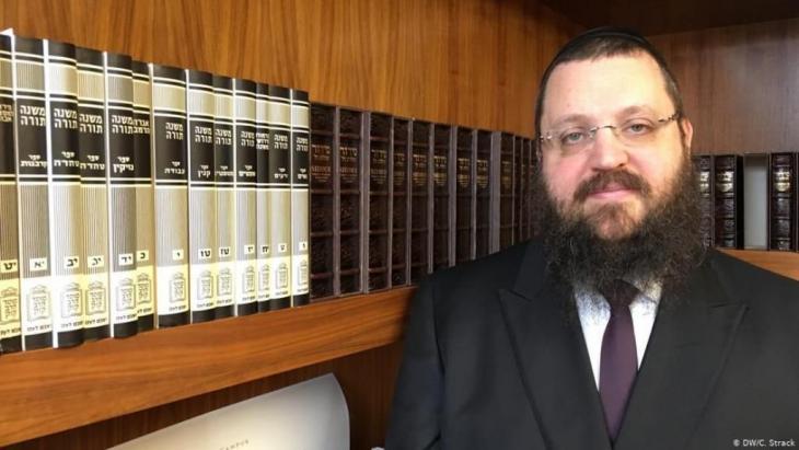 Yehuda Teichtal ist Gemeinderabbiner der jüdischen Gemeinde zu Berlin und der Vorsitzende des jüdischen Bildungszentrums Chabad. Foto: DW/C. Strack