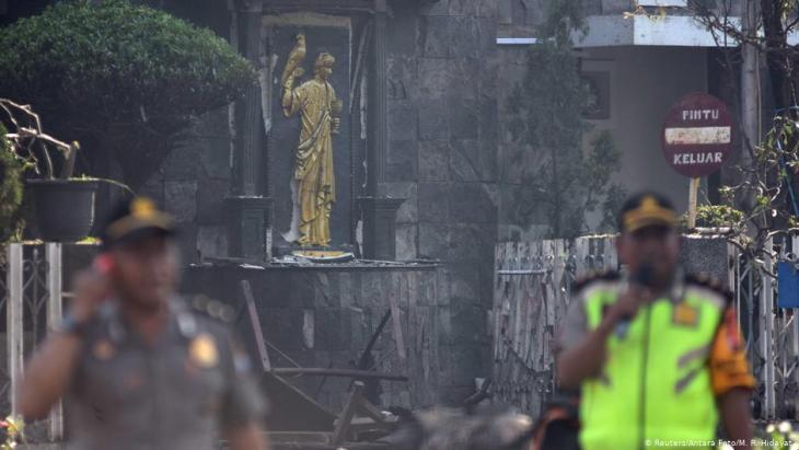 Islamistischer Selbstmordanschlag auf Kirchen im indonesischen Surabaya am 13. Mai 2018; Foto: Reuters