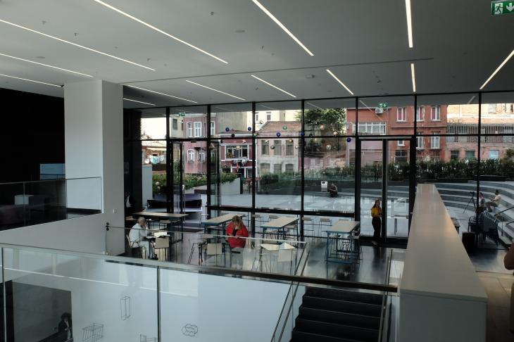 Blick ins Kulturzentrum Arter; Foto: Ulrich voon Schwerin