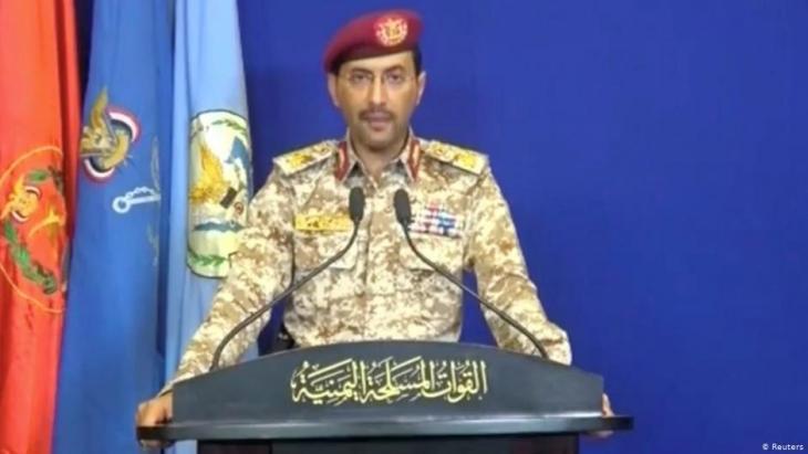 Huthi-Armee-Sprecher Jihja Sari; Foto: Reuters