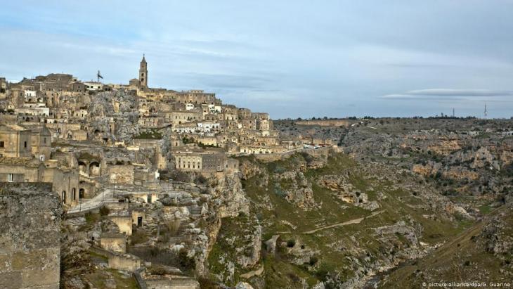 Blick auf die süditalienische Stadt Matera; Foto: picture-alliance/dpa