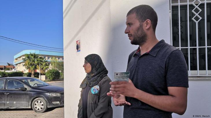 Amenallah Jaouhari am 27.09. in Denden, Manouba, Tunesien; Foto: Sarah Mersch/DW