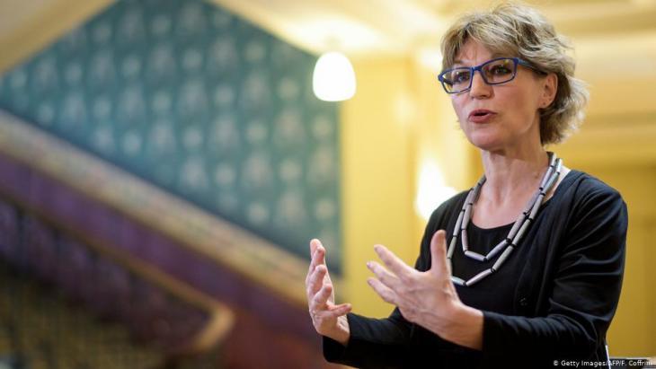 Die UN-Sonderberichterstatterin für außergerichtliche, standrechtliche oder willkürliche Hinrichtungen, Agnès Callamard; Foto: Getty Images/AFP/F. Coffrini