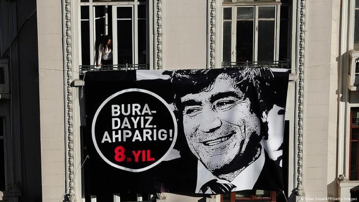 Gedenken an den ermordeten Agos-Journalisten Hrant Dink; Foto: AFP/Getty Images