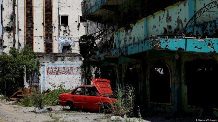 Zerstörter Stadtteil in Marawi; Foto: Reuters